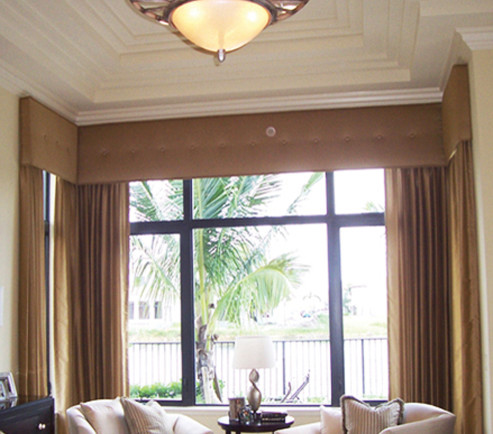 Drapes traditional-living-room