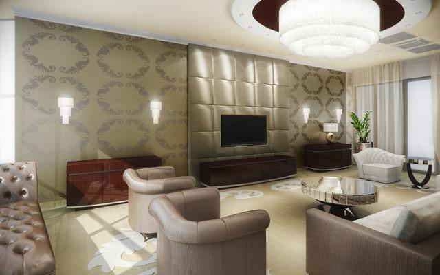 dream home contemporary-living-room