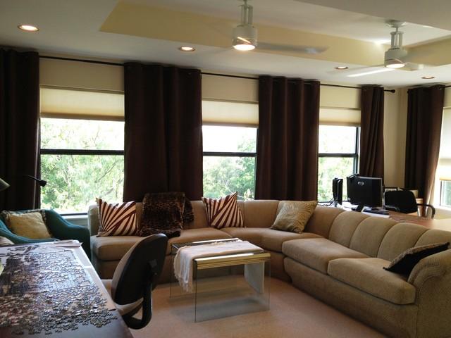 dream retirement home contemporary living room dallas