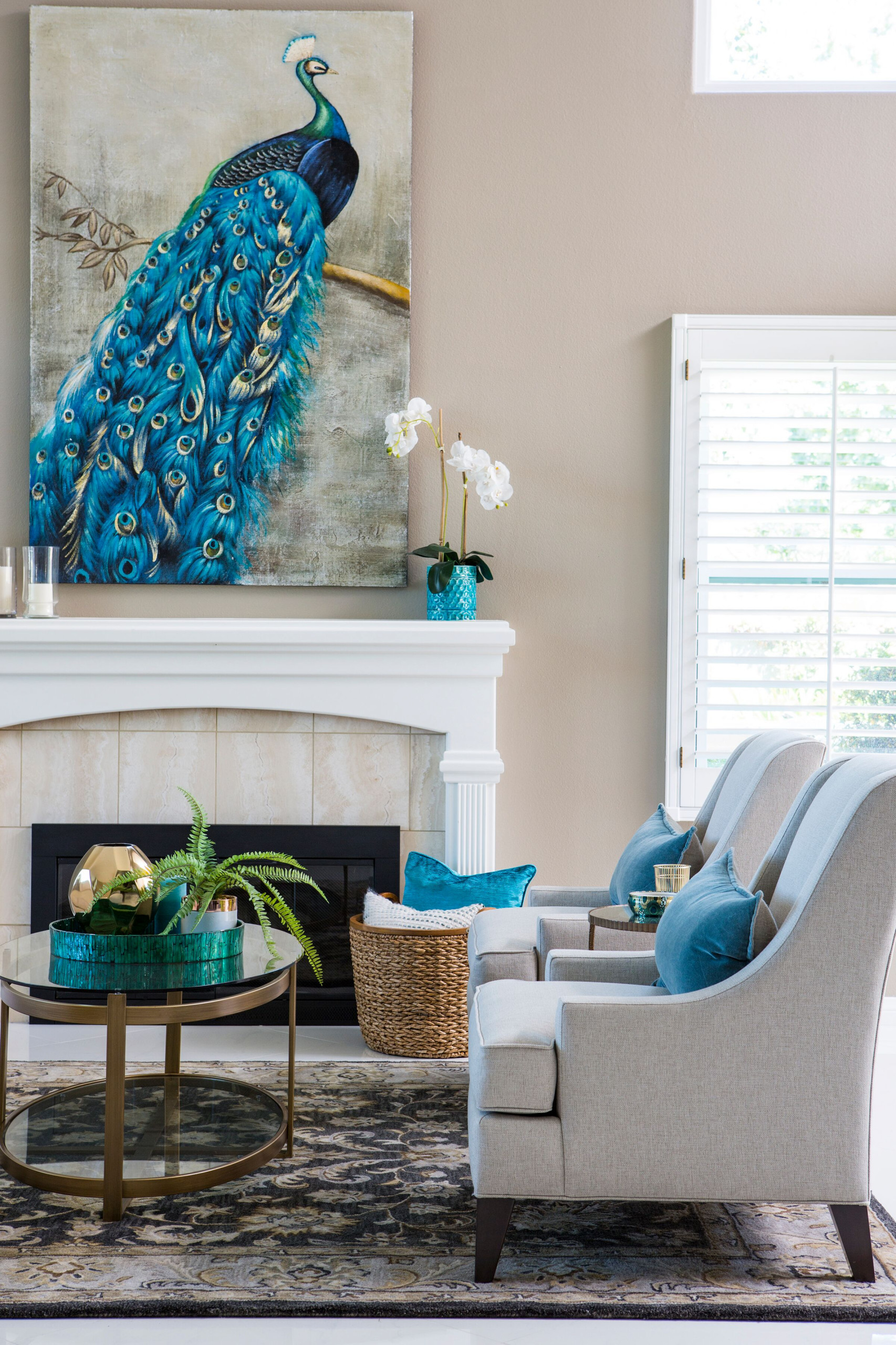 Dreamy Blue & Taupe Living Room