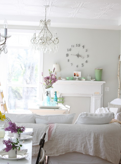 Dreamy Whites eclectic-living-room
