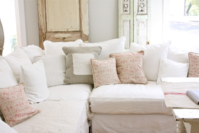 Dreamy Whites Shabby Chic Living Room