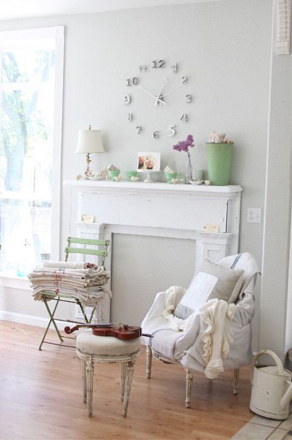 Dreamy whites eclectic living room