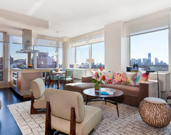 Drew McGukin Interiors - Chelsea Apartment contemporary-living-room