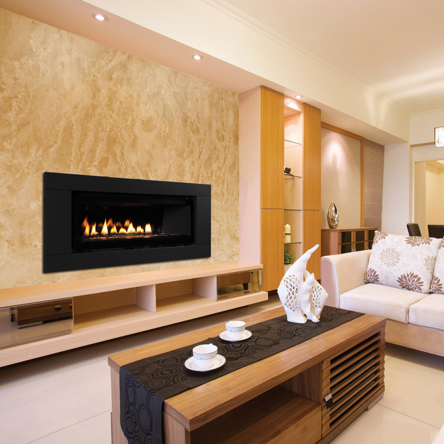 Drl3000 contemporary gas fireplaces by superior for Modern living room gas fires