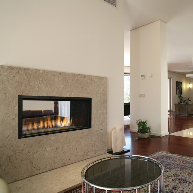 Drl4543 contemporary gas fireplaces by superior for Modern living room gas fires