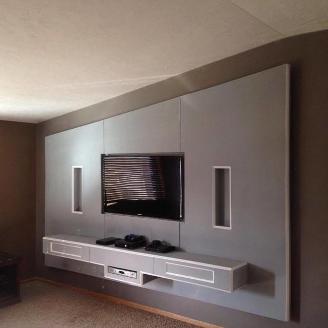 Drywall Artcontemporary Living Room