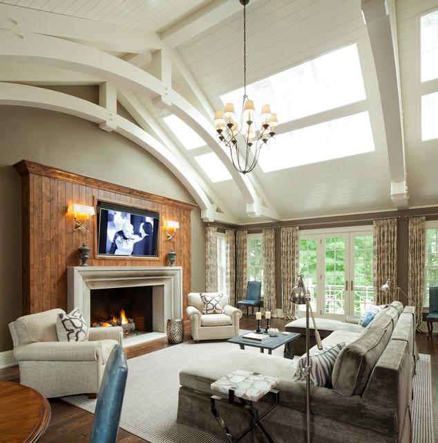Dublin Ohio Traditional Living Room