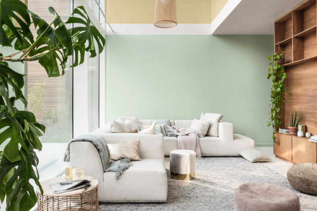 Dulux Colour Of The Year 2020 Tranquil Dawn Modern Living Room By Dulux Houzz Uk
