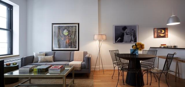 DUMBO Modern Interior Design   1 Bedroom Apartment modern living room. DUMBO Modern Interior Design   1 Bedroom Apartment   Modern