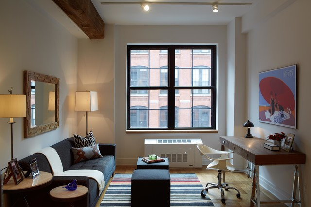 Dumbo Modern Interior Design 1 Bedroom Apartment Modern Living Room New York By B
