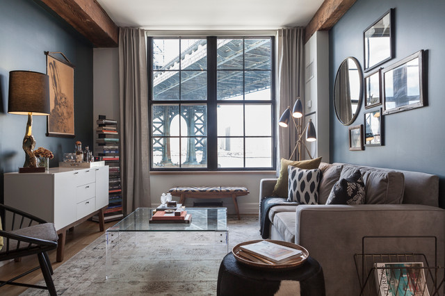 DUMBO Warehouse transitional-living-room