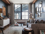 transitional living room Room of the Day: A Piece of Manhattan Inspires a Brooklyn Apartment (4 photos)