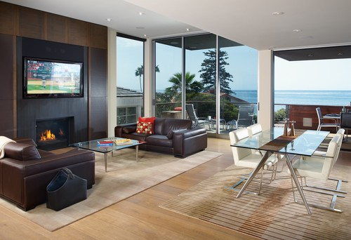 Contemporary Living Room by San Diego Architects & Building Designers Bruce Peeling Architect