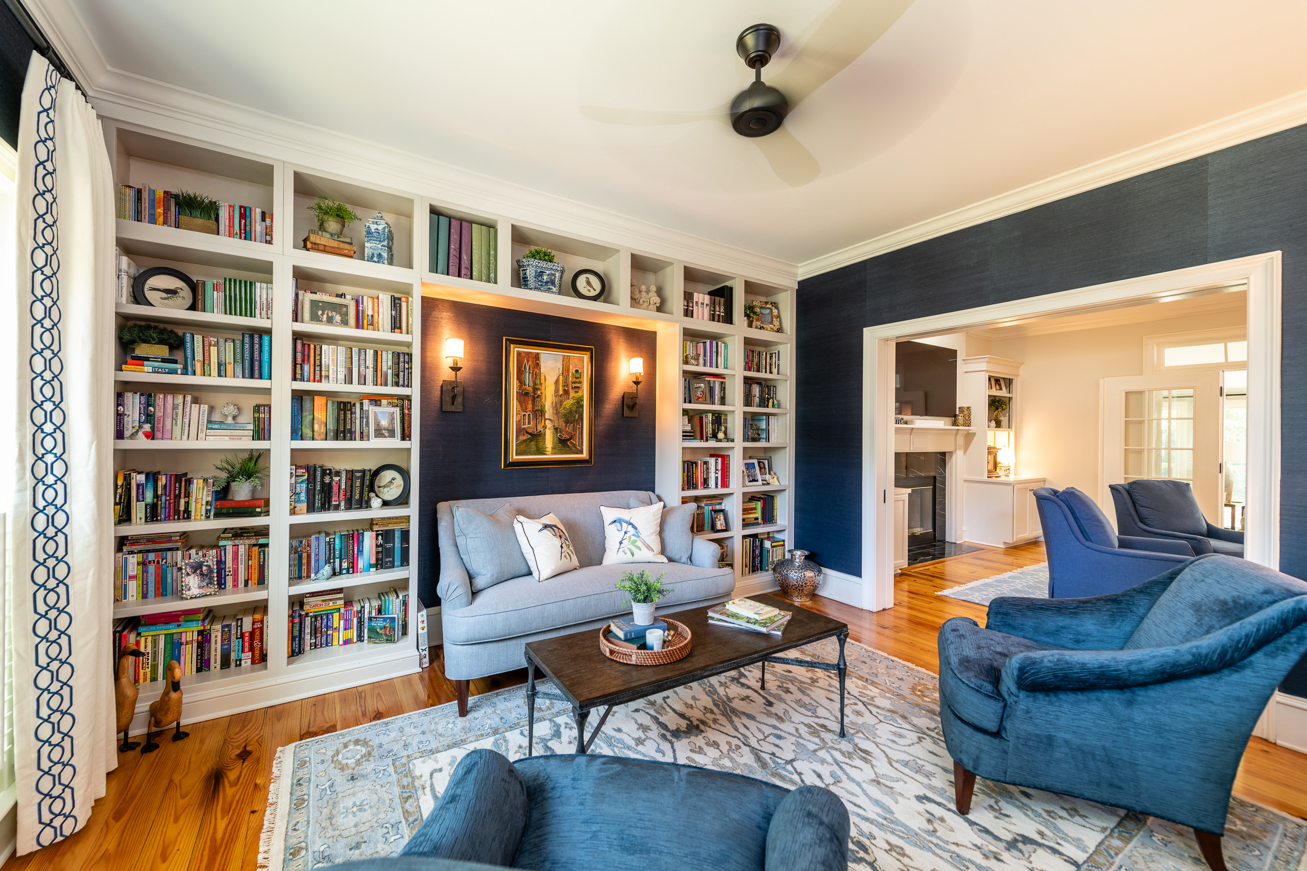75 Beautiful Living Room Library Pictures Ideas February 2021 Houzz