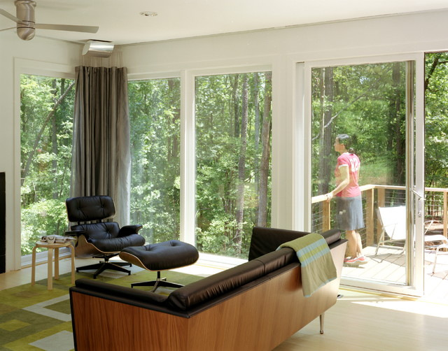 Dwell house communal space modern living room