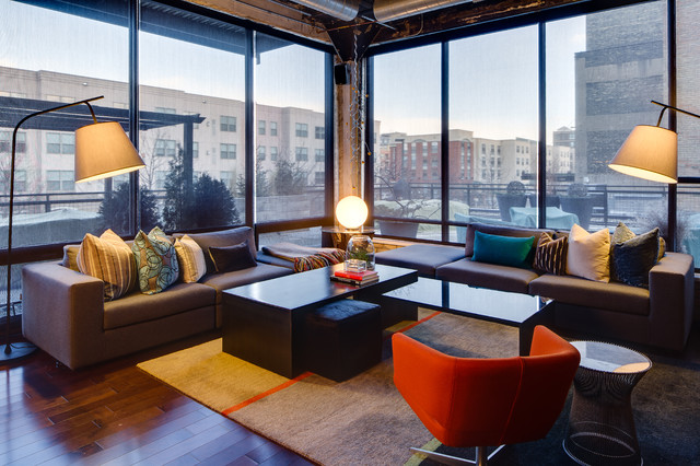 Minneapolis Under Living Dwelling Designs Warehouse District Loft Living Room