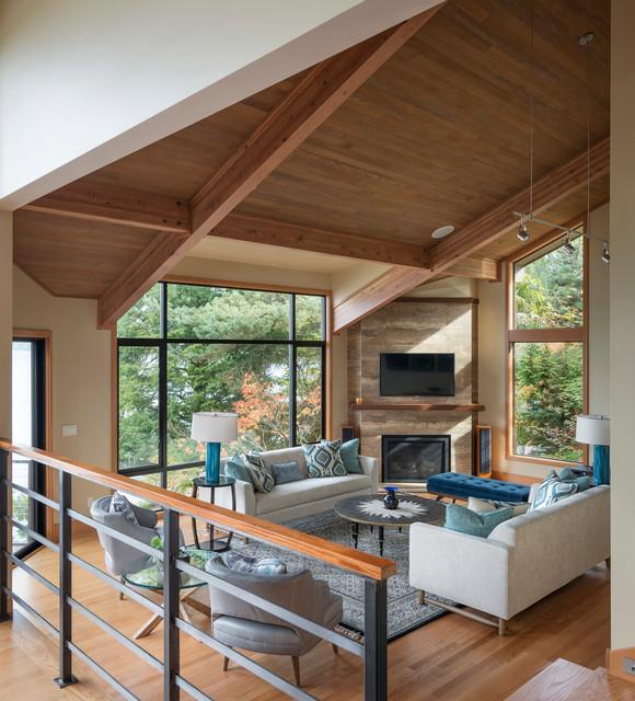 Contemporary Living Room Design Houzz: Mercer Island VI