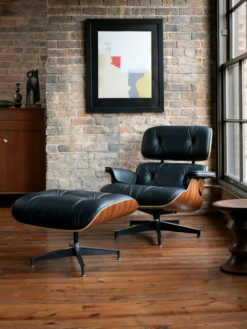 Eames Lounge Chair Midcentury Living Room New York By US MLF