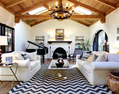 Earlmont House rustic-living-room