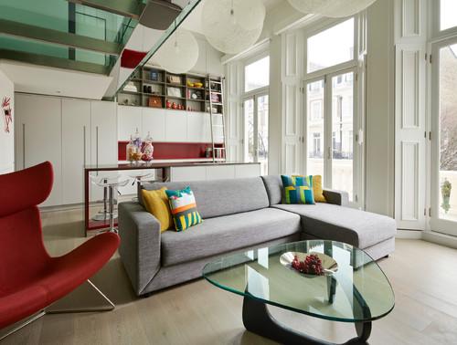 Houzz Tour: A Small Studio Apartment Gets a Mezzanine Bedroom