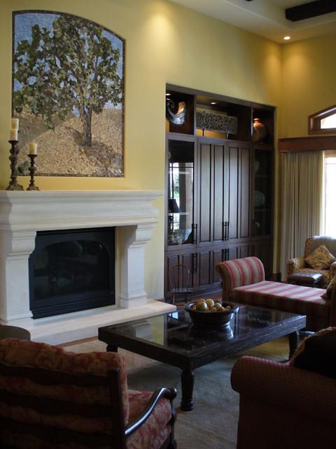 Early California estate mediterranean-living-room