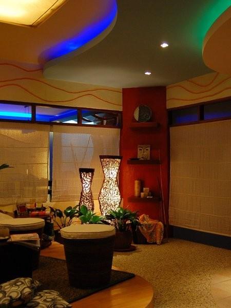earth designs tropical living room