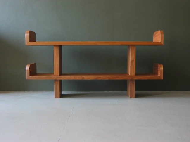 Ease shelves walnut modern living room san Modern shelves for living room