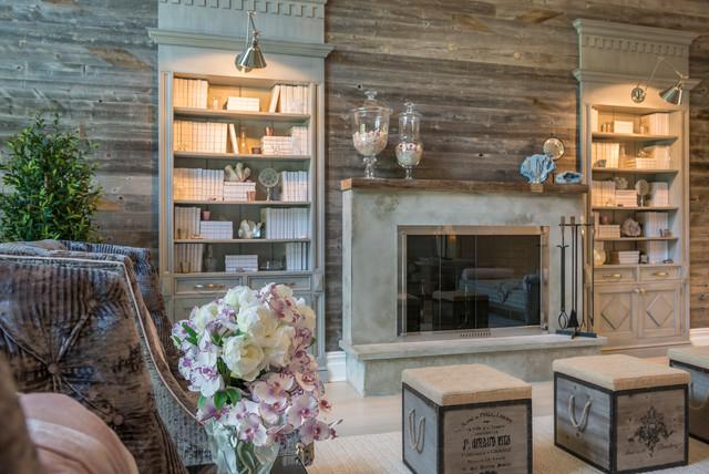 East hampton beach house farmhouse living room new - Green living room ideas in east hampton new york ...