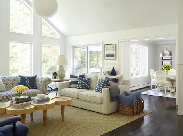 East Hampton Cottage Beach Style Living Room
