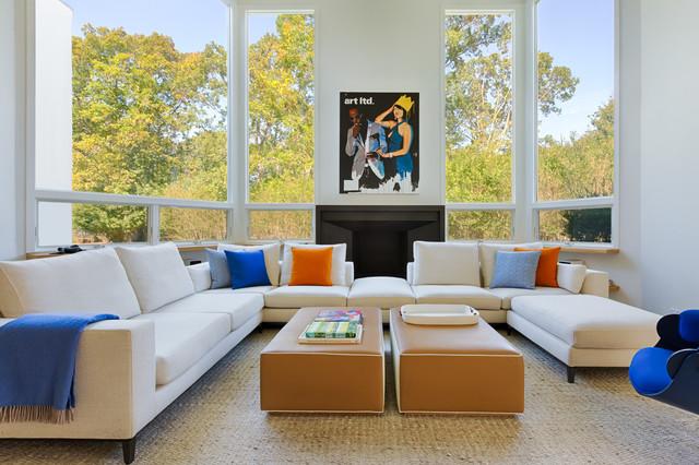 East Hampton Edit Contemporary Living Room, New York