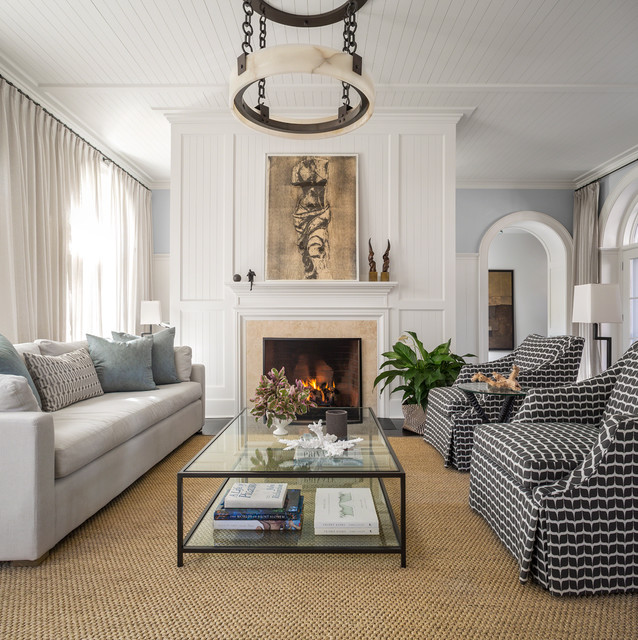 East Hampton Ny Transitional Beyond The Hedges Transitional Living Room New York By