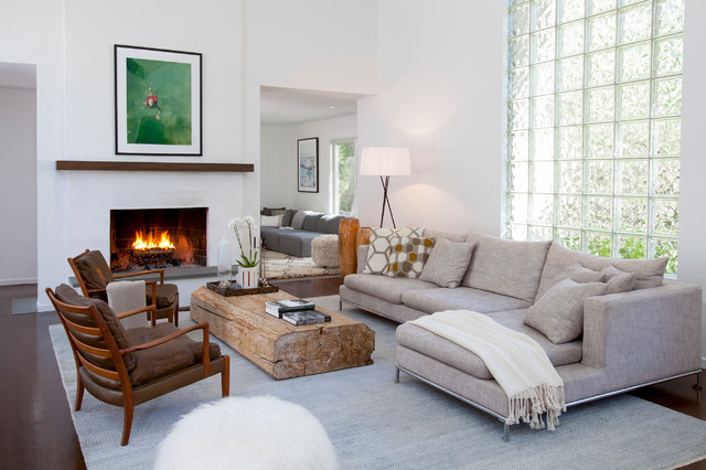 East Hampton Ny Contemporary Living Room New York By Trionfi Interiors