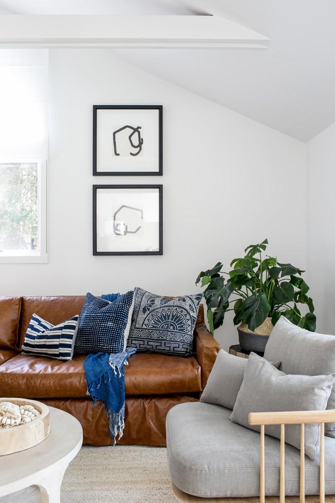 East Hampton Post-Modern - Beach Style - Living Room - New ...
