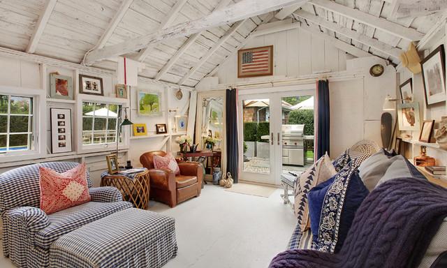 East Hampton Village Barn traditional-living-room