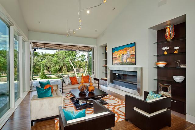 East Living Room in Spanish Oaks contemporary-living-room