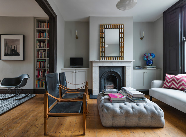 East London House Midcentury Living Room London By