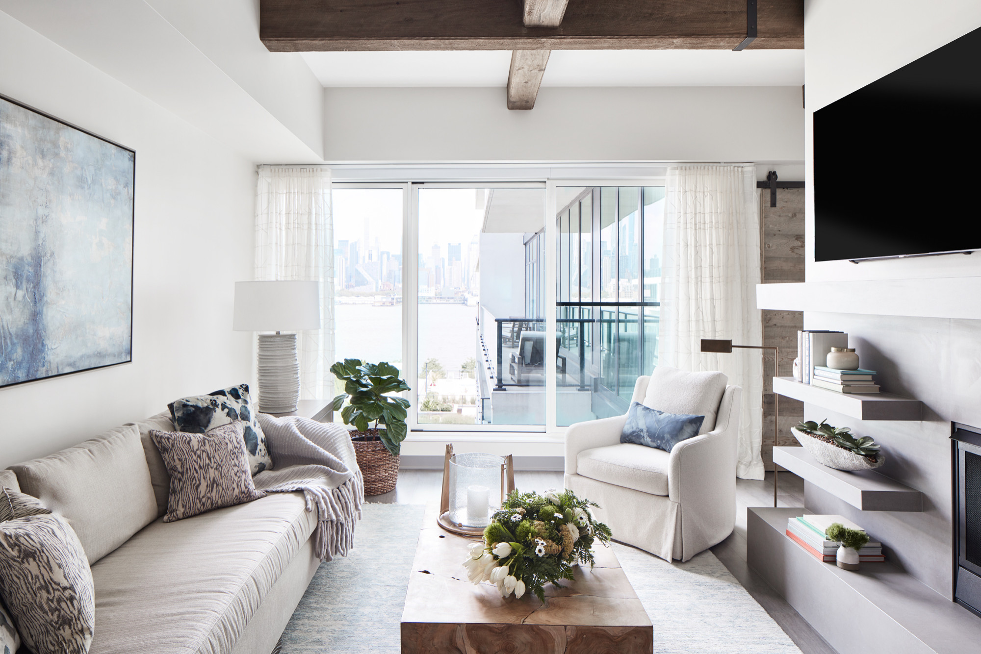 75 Beautiful Dark Wood Floor Living Room Pictures & Ideas - January, 2021 | Houzz