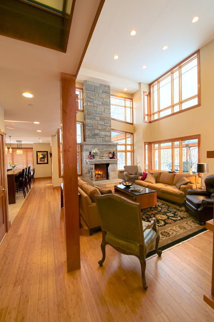 East Mountain Residence traditional-living-room