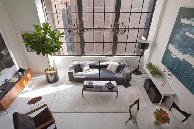 East Village Loft Eclectic Living
