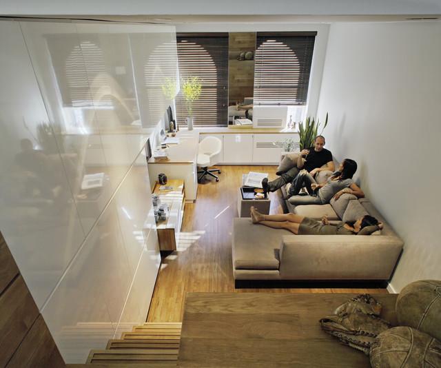 modern living room by Jordan Parnass Digital Architecture