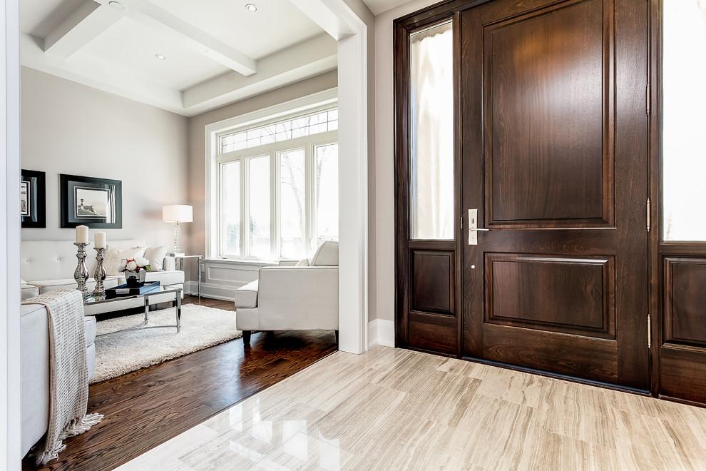 Living room - transitional living room idea in Toronto