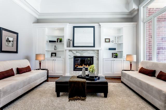 Classic living room in Toronto.