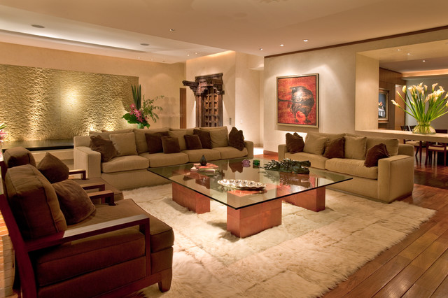 Ebanos contemporary living room mexico city by for Disenos de living