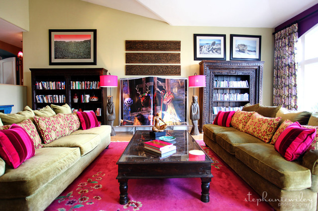 Eclectic Amp Colorful Eclectic Living Room Los Angeles