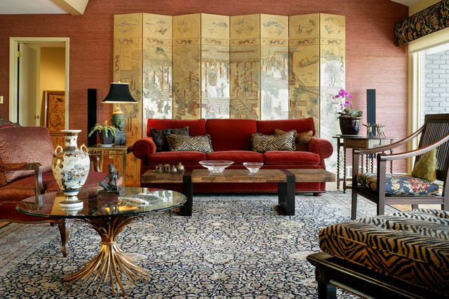 Eclectic Asian Fusion Living Room