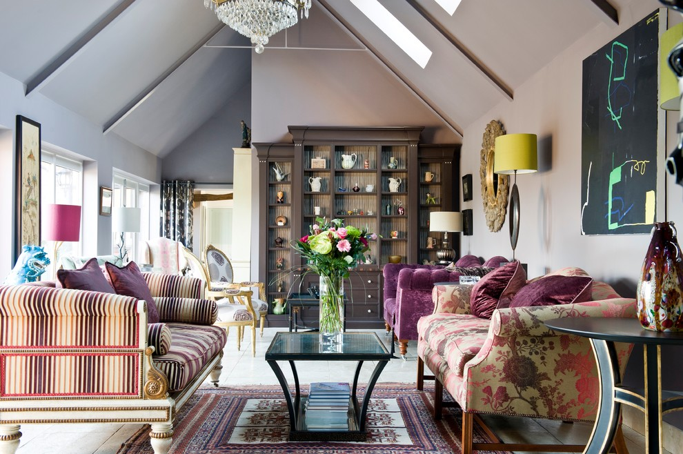 eclectic barn conversion  eclectic  living room  other