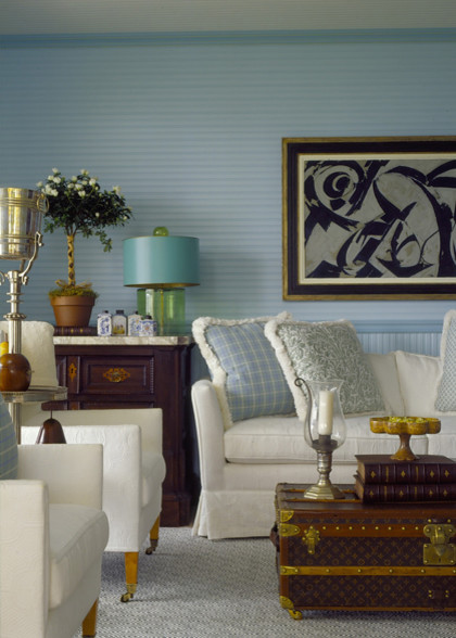 eclectic living room by architecturaldigest.com