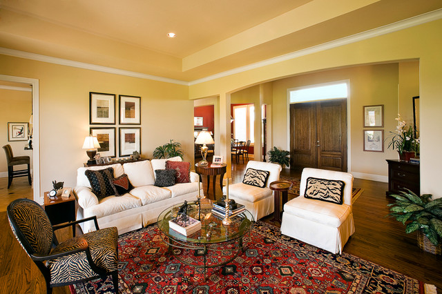 Eclectic design traditional living room dallas by for Traditional eclectic living rooms