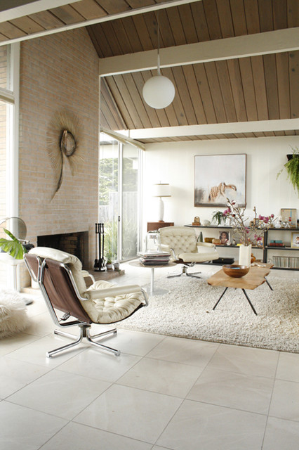 Eclectic Eichler Living Room Midcentury Living Room